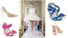 Shoe style inspiration: TL:  Jimmy Choo | TR: Jimmy Choo | BL: Jimmy Choo  BR: Aruna Seth  Wedding Shoe Style Inspiration - Nu Bride