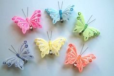 Butterfly Clip (12pcs Set) by Cutie Collections. $12.99. BUTTERFLY SIZE- 9X6X2.5CM. 12 PIECES IN A BOX W/ MIXED COLORS. 12 PCS SET FEATHERED PASTEL COLORED BUTTERFLY CLIP. GOES GREAT WITH ANY PARTY, THEME PARTY, AND HOLIDAY DECORATION. We specialize in the largest variety of butterfly , dragonfly, ladybug, bee, bird and daisy flower decor to capture your imagination and inspire you.   Our matching hanging dragonflies can be hung from the ceilings or attach to the walls to create ...