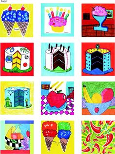 For 4th grade we could use Tint & Shade and Wayne Thiebaud as inspiration for our Square 1 Art.