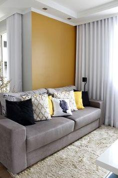 Antes e Depois | Nova cor na parede da sala