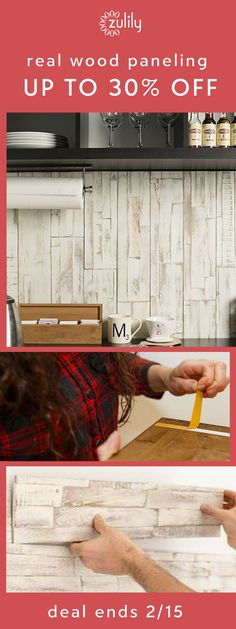 Sign up to shop real wood paneling up to 30% off. With mywoodwall, covering your walls in beautiful real wood paneling is as easy as peeling and pressing. Plus, for every box purchased, three trees are planted — that's what we call a win-win! See how it works. Deal ends 2/15.