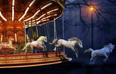 A Carousel that lives and breathes.The Night Circus Arte Punch, Creation Art, Night Circus, Circus Circus, William Blake, Merry Go Round, Carousel Horses, Foto Art, Horse Art