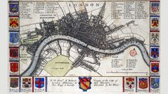 This map shows London before the Great Fire of 1666