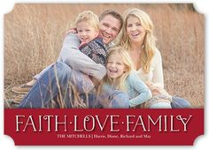 Faith And Love Banner Religious Christmas Card, Ticket Corners, Dynamiccolor