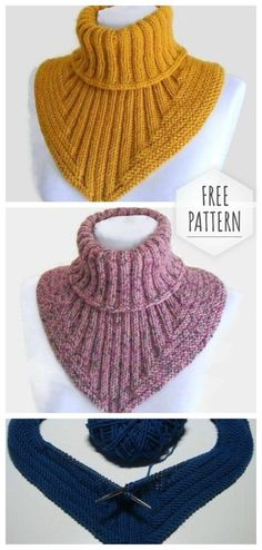 Knit neck collar crochet Knit neck collar crochet Learn the rudiments of how to crochet, starting at Crochet Doily Rug, Crochet Poncho Patterns, Crochet Yarn, Knitting Patterns, Knitting Stitches, Free Knitting, Baby Knitting, Bandeau Crochet, Crochet Collar