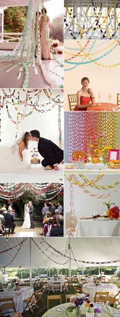 A Kiss of Colour-Decorar con cadenetas de papel/Paper chain decor