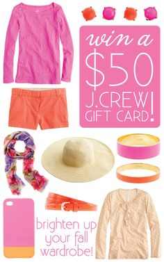 Enter this awesome giveaway  by 8/30/12 12:00am http://www.longdistanceloving.net/2012/08/jcrew-giveaway.html