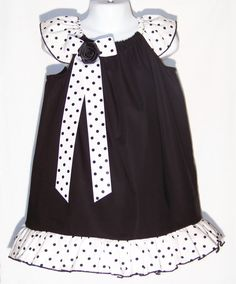 dcef9492ee Items similar to Black Ruffle Dress   Black   White   Pretty   Newborn    Infant   Baby   Girl   Toddler   Kids   Handmade   Custom Boutique Clothing  on Etsy