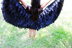 Maleficent Costume Wings Dress Up Wings Crow Raven by flyingkiss, $40.00