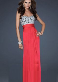 Attractive A-line Sweetheart Floor-length Crystals Dress