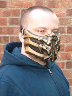 Mortal Kombat Scorpion MK9 v.1 Mask Cosplay by HiddenAssassins, £52.99