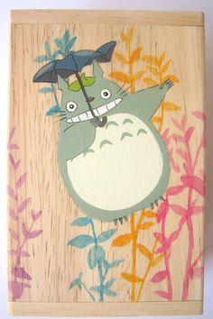 My Neighbor Totoro Hand Paint wood Box Studio Ghibli 8 by cuteart