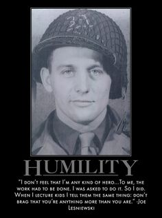 Motivational Posters: Band of Brothers on Humility