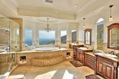 24 Beautiful Ideas for Master Bathroom Windows