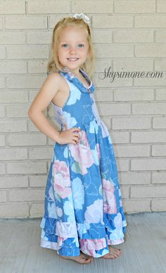 Floral Maxi Dress for girls #Skysimone