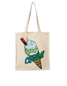 Ice Cream Printed Shopper