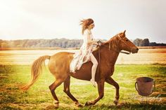 Running free / meadow picture / country / senior  picture with my horse