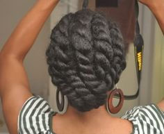 natural hair big twist updo