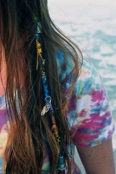 thread in hair, hair jewelry