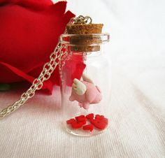 Flying pig necklace, Gift idea for girlfriend, Bottle necklace. $31.00, via Etsy.