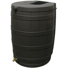 Good Ideas Rain Wizard 50 Rain Barrel - Black