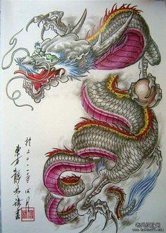 Tattoo ideas watercolor inspiration colour 31 Ideas for 2019 Dragon Chino Tattoo, Dragon Tattoo Art, Small Dragon Tattoos, Japanese Dragon Tattoos, Japanese Tattoo Art, Dragon Artwork, Japanese Tattoo Designs, Dragon Tattoo Designs, Cat Tattoo