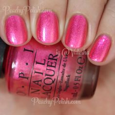 OPI Can't Hear Myself Pink! | Summer 2015 Brights Collection | Peachy Polish