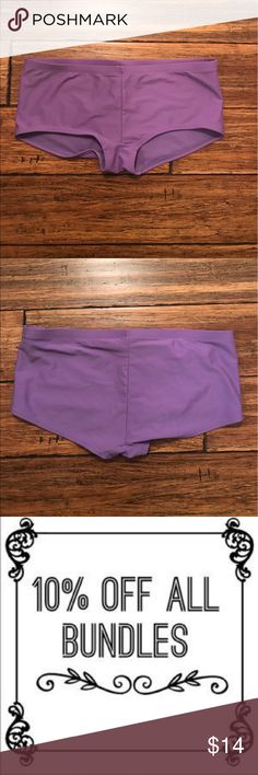"Old Navy Lilac Boyshort Bikini Bottoms Comfy Old Navy boyshort bikini bottoms in a pretty lilac purple. 80% nylon, 20% spandex. Approx. 15"" across waist, 9"" long. Old Navy Swim Bikinis"