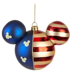 Disney Holiday Ornament - Americana Mickey Mouse Ears. My brother would love this