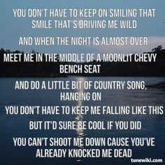 meet me in the middle of a moonlit chevy bed lyrics