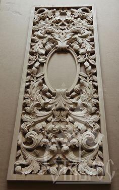 Резная филенка созданая для декорирования дверного полотна одного из частных заказов