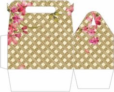 Floral Weave Gable Gift Box