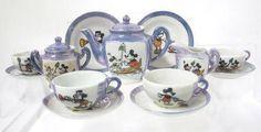 Walt Disney Mickey Mouse Tea Cup Tea Pot Set - Pesquisa Google
