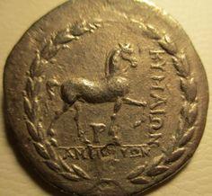 Maison de ventes aux enchères en ligne Catawiki: Grèce antique - Aolis. Kime. AR tétradrachme, 165 av  J.-C.