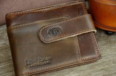 Leather Wallet Men's Wallet Brown Retro Wallet Vintage Style Distressed Cowhide Leather Wallet by SherryJewelry, $25.00