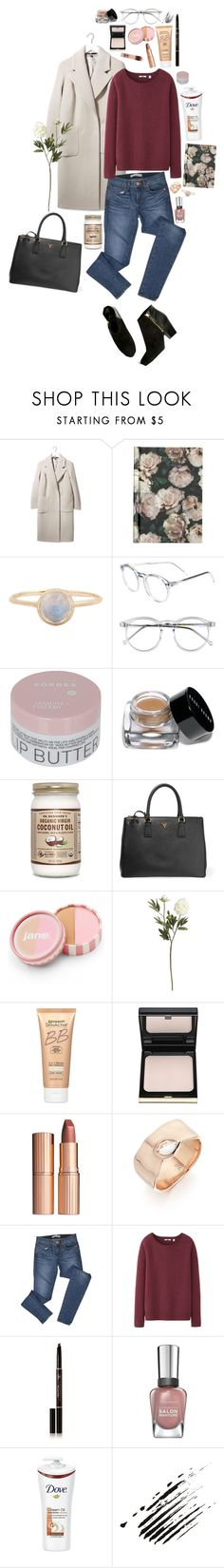 """""""Coat #6"""" by triomphevictorieuse ❤ liked on Polyvore featuring Boutique, H&M, Wildfox, Korres, Bobbi Brown Cosmetics, Prada, jane, Crate and Barrel, Miracle Skin Transformer and Kevyn Aucoin"""