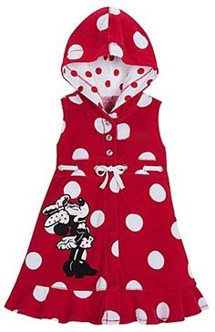 Disney Store Minnie Mouse Swimsuit Cover Up Hooded « Clothing Impulse