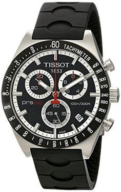 Men's Wrist Watches - Tissot Mens TIST0444172705100 PRS 516 Black Dial Watch * For more information, visit image link.
