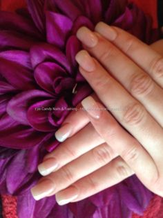 Full set of acrylic nails with pink gelux gel polish