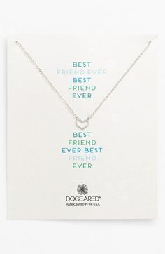 Best Friend Ever Heart Pendant http://rstyle.me/n/wq6pmnyg6