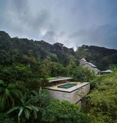 Stunning modern house in Brazil's rain forest has cozy sunken living room, green roof - Curbed