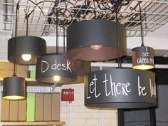 chalk lampshades for your teen's room...how cool is that??  Freedom of expression through lighting.  www.diyledstore.com