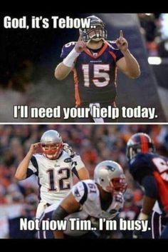 Tebow/Brady time