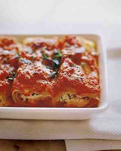 See our Manicotti with Tomato Sauce galleries