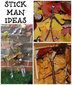 Stick Man Activity Ideas How about these activity ideas for the Easter holidays? Simple but fun, and it will get the little monsters outdoors! School Holiday Activities, Forest School Activities, Eyfs Activities, Nursery Activities, Nature Activities, Autumn Activities, Outdoor Activities, Activities For Kids, Science Nature