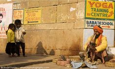 Charming! Snake charmers, to clarify, are not the same as snake catchers. Snake catchers go out and catch wild snakes. Photo by Stuart Forst...