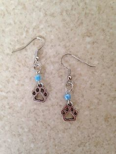 Hey, I found this really awesome Etsy listing at https://www.etsy.com/listing/235377215/boy-dog-paw-charm-earrings-dog-paw