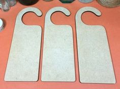 MDF Door hanger (hook top) 20cm - Wooden Door hanger x 3