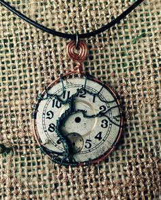 Wire-Wrapped Tree of Life and Time Pendant by HopeAndHoney on Etsy