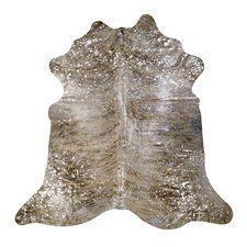 Devore Hand-Woven Metallic Light Brindle Tan Area Rug